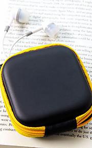 rejse læder materiale hovedtelefoner ændre punge (tilfældig farve)
