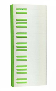 Ismartdigi PW-15600 15600mAh Piano Style Power Bank for Cell Phone(Black/Green)