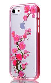 For iPhone 7 etui / iPhone 6 etui / iPhone 5 etui Transparent / Mønster Etui Bagcover Etui Blomst Blødt TPU AppleiPhone 7 Plus / iPhone 7