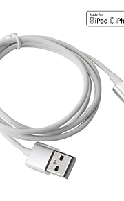 Lightning USB 3.0 Ledning Ladingskabel Fletted ladingskabel Data og synkronisering Magnet Normal Kabel Til Apple iPhone iPad 100 cm TPE