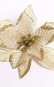 god Jul! nya 13cm sex färger jul blomsterdekoration konstgjorda blommor xmas natal träd prydnad enfeite de natal