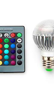 5W E14 / B22 / E26/E27 Bombillas LED Inteligentes G60 1 SMD 5050 680 lm RGB Regulable / Control Remoto / Decorativa V 1 pieza