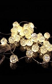 4メートル20ledsは装飾用の籐のボール列ライトクリスマスの文字列光を主導しました