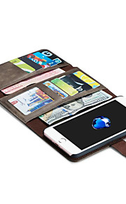 For Etui iPhone 7 / Etui iPhone 7 Plus / Etui iPhone 6 Lommebok / Kortholder / Origami / Magnetisk Etui Heldekkende Etui Ensfarget Hard