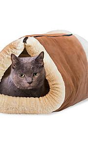 Katze Hund Betten Haustiere Matten & Polster Klappbar Weich Khaki Stoff Baumwolle