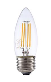 3.5 E26/E27 LED-glødepærer B 4 COB 350 lm Varm hvit Dimbar V 1 stk.
