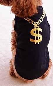 Gatos / Cães Fantasias / Camiseta / Colete Púrpura / Preto / Rosa Roupas para Cães Inverno / Verão / Primavera/Outono American / EUAFofo