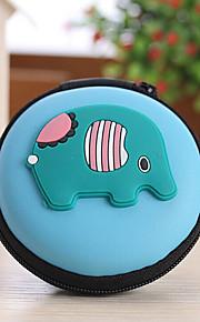 dyr form lukket rejse hovedtelefon skift opbevaringsboks (tilfældig farve)
