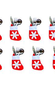 12st juldekoration jul små strumpor 7 * 10 * 13cm