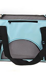 bærbar hundevalp katt carry bærepose veske reise blå lerret