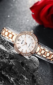 Mulheres Relógio de Moda / Bracele Relógio Quartz Impermeável Lega Banda Pendente / Casual Dourada marca
