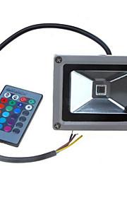 12-24V 900-1100lm 10W farverige rgb infrarød fjernbetjening lyser rgb landskab lys