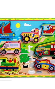 puslespil Pædagogisk legetøj / Puslespil Byggesten DIY legetøj Tog / Bil / Hestevogn / Motorcykel / Bus / Lastbil 8 Træ Regnbue
