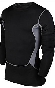 Sports Men's Long Sleeve Exercise & Fitness / Leisure Sports / Badminton / Basketball / Running Compression ClothingBreathable / Quick