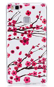 Para Fosforescente / IMD / Diseños Funda Cubierta Trasera Funda Flor Suave TPU para Huawei Huawei P9 Lite / Huawei P8 Lite