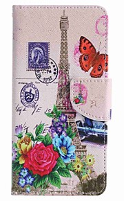 For Samsung Galaxy J7 prime J5 prime Butterfly Tower Painting PU Phone Case