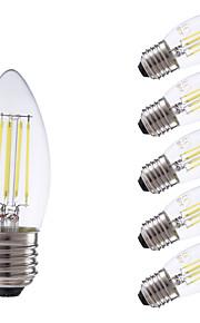 3.5 E26/E27 LED-glødepærer B 4 COB 350/400 lm Varm hvit / Kjølig hvit Dimbar AC 220-240 V 6 stk.