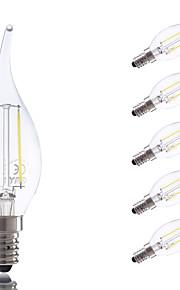 2W E14 LED-glødepærer B 2 COB 250 lm Varm hvit / Kjølig hvit AC 220-240 V 6 stk.