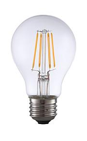 4W E26 LED-glødepærer A60(A19) 4 COB 350 lm Varm hvit Dimbar AC 110-130 V 1 stk.