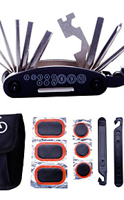 Bike Repair Tool Kits - 16 in 1 Multifunction Bicycle Mechanic Fix Tools Set Bag with Tire Patch Levers & Glue Best Christmas Gifts (No Glue Included)