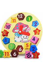 puslespil Pædagogisk legetøj / Puslespil Byggesten DIY legetøj Cirkelformet 1 Træ Regnbue Hobbylegetøj