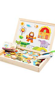 puslespil Magnetiske puslespil / Pædagogisk legetøj / Puslespil Byggesten DIY legetøj Elefant / Hus / Hest / Krokodille Træ Regnbue