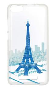 Para Diseños Funda Cubierta Trasera Funda Torre Eiffel Suave TPU para Wiko Wiko Sunset 2 / Wiko Lenny 3 / Wiko Lenny 2
