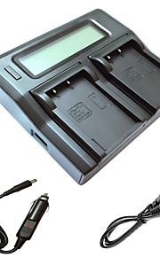 ismartdigi bls5 lcd dual oplader med bil afgift kabel til Olympus E-PL2 PL3 PL5 PL6 PL7 EP3 EM10 e-PM1 PM2 PM3 bls5 BLS1 kamera batterys