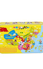 puslespil Pædagogisk legetøj / Puslespil Byggesten DIY legetøj Firkantet 60 Træ Regnbue Hobbylegetøj