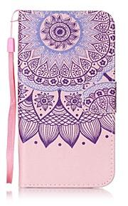 용 지갑 / 카드 홀더 / 스탠드 / 플립 / 패턴 케이스 풀 바디 케이스 꽃장식 하드 인조 가죽 용 HTC HTC Desire 626