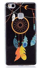 Para Fosforescente / IMD / Diseños Funda Cubierta Trasera Funda Atrapasueños Suave TPU para Huawei Huawei P9 Lite / Huawei P8 Lite