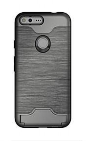 Per Porta-carte di credito / Con supporto Custodia Custodia posteriore Custodia Tinta unita Resistente TPU per GoogleGoogle Pixel /