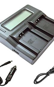 ismartdigi EL20 lcd carregador duplo com cabo de carga do carro para Nikon EN-EL20 J1 J2 J3 uma AW1 S1 batterys câmera