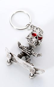europa e os estados unidos qualidade chaveiro criativo boutique esqueleto de borracha skate de alto grau de pendurar porta-chaves