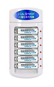 Fulanka  on the 5th or 7th Rechargeable Battery Universal Charger 6-slot standard charge  6 7th 1280 battery