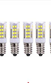 5W E14 LED-kornpærer 51 SMD 2835 850LM lm Varm hvit / Kjølig hvit Dekorativ AC 220-240 V 5 stk.
