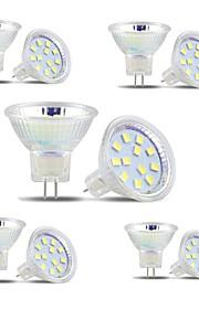 3W GU4(MR11) LED-spotpærer MR11 12 SMD 2835 300 lm Varm hvit / Kjølig hvit V 10 stk.