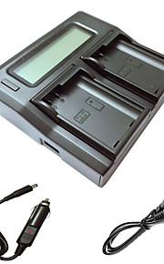 ismartdigi EL15 lcd dual oplader med bil afgift kabel til nikon D7000 D7100 D7200 D750 D610 D800 D810 kamera batterys