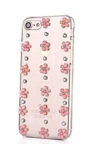 För Strass fodral Skal fodral Blomma Hårt PC för AppleiPhone 7 Plus / iPhone 7 / iPhone 6s Plus/6 Plus / iPhone 6s/6 / iPhone SE/5s/5 /