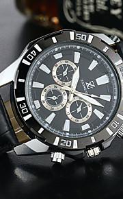 Masculino Relógio Esportivo / Relógio Elegante / Relógio de Moda / Relógio de Pulso Quartzo PU Banda Casual Preta / Marrom marca