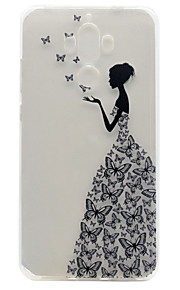 For Huawei P9 Plus P9 Lite P9 P8 Lite Y5 II Honor V8 Honor 8 Y600 Nova Mate 9 TPU Material Butterfly Girl Pattern Painted Relief Phone Case