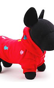 Cani Cappottini Rosso Abbigliamento per cani Estate / Primavera/Autunno Tinta unita Casual