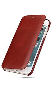 Für Ultra dünn Hülle Handyhülle für das ganze Handy Hülle Einheitliche Farbe Hart Echtes Leder für AppleiPhone 7 plus / iPhone 7 / iPhone