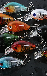 "1 pcs Hard Bait / Fishing Lures Hard Bait Assorted Colors 4 g/1/6 oz. / 5/8 oz. Ounce mm/1-3/4"" inch,Hard PlasticBait Casting / General"