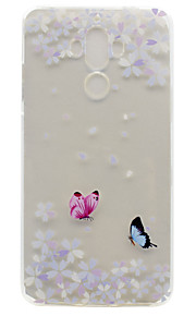 For Huawei P9 Plus P9 Lite P9 P8 Lite Y5 II Honor V8 Honor 8 Y600 Nova Mate 9 TPU Material Flowers Butterfly Pattern Painted Relief Phone Case