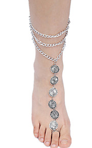 kvinders sølv legering anklet smykker 1pc