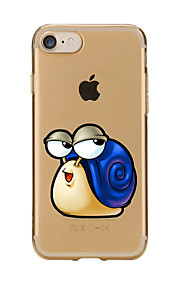 For Transparent Pattern Case Back Cover Case Cartoon Snail Soft TPU for IPhone 7 7Plus iPhone 6s 6 Plus iPhone 6s 6 iPhone 5s 5 5E 5C