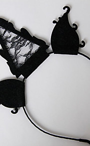 Headpiece Innoittamana Cosplay Cosplay Anime Cosplay-Tarvikkeet Headpiece Musta Nonwoven Fabric Uros / Naaras / Lapsi