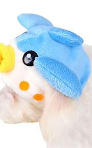 Katter / Hundar Bandana & Hattar Blå Hundkläder Vinter / Vår/Höst Tecknat Gulligt