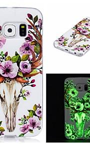 Per Fosforescente / IMD / Fantasia/disegno Custodia Custodia posteriore Custodia Con animale Morbido TPU per SamsungS7 edge / S7 / S6
